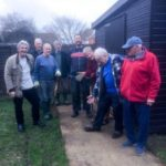 Laying a path (to a shed) behind the Village Hall